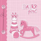 Vector baby girl scrapbook — Stock Vector