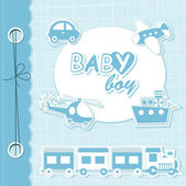 Vector baby boy scrapbook — Stock Vector