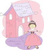 Vector illustration with princess — Stockvector