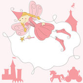 Fairy Princess Invitation card — Stock Vector
