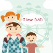 Royalty-Free Stock Vector Image: Father\'s Day card