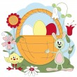 Easter greeting card — Stock Vector #9128145