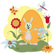 Easter greeting card — Stock Vector #9128159