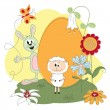 Easter greeting card — Stock Vector #9295383