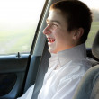 Teenager in the car — Stock Photo #10113756