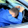 Fall asleep in car — Stock Photo #7986935