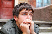 Sad young man — Stock Photo