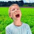 Screaming boy — Stock Photo