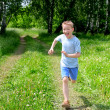 Boy running — Stock Photo