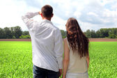 Couples outdoor — Stock Photo