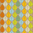 Vector background with multicolored leaves — Stock Photo