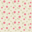 Stock Vector: Seamless pattern with pastel flowers