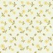 Seamless pattern with pastel flowers - Vettoriali Stock 