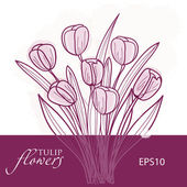 Tulip flowers. Vector background — Stock Vector