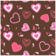 Vintage card with valentines hearts — Stock Vector