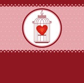 Heart in the cage, template for valentines day — Stock Vector