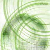 Futuristic green background — Stock Vector