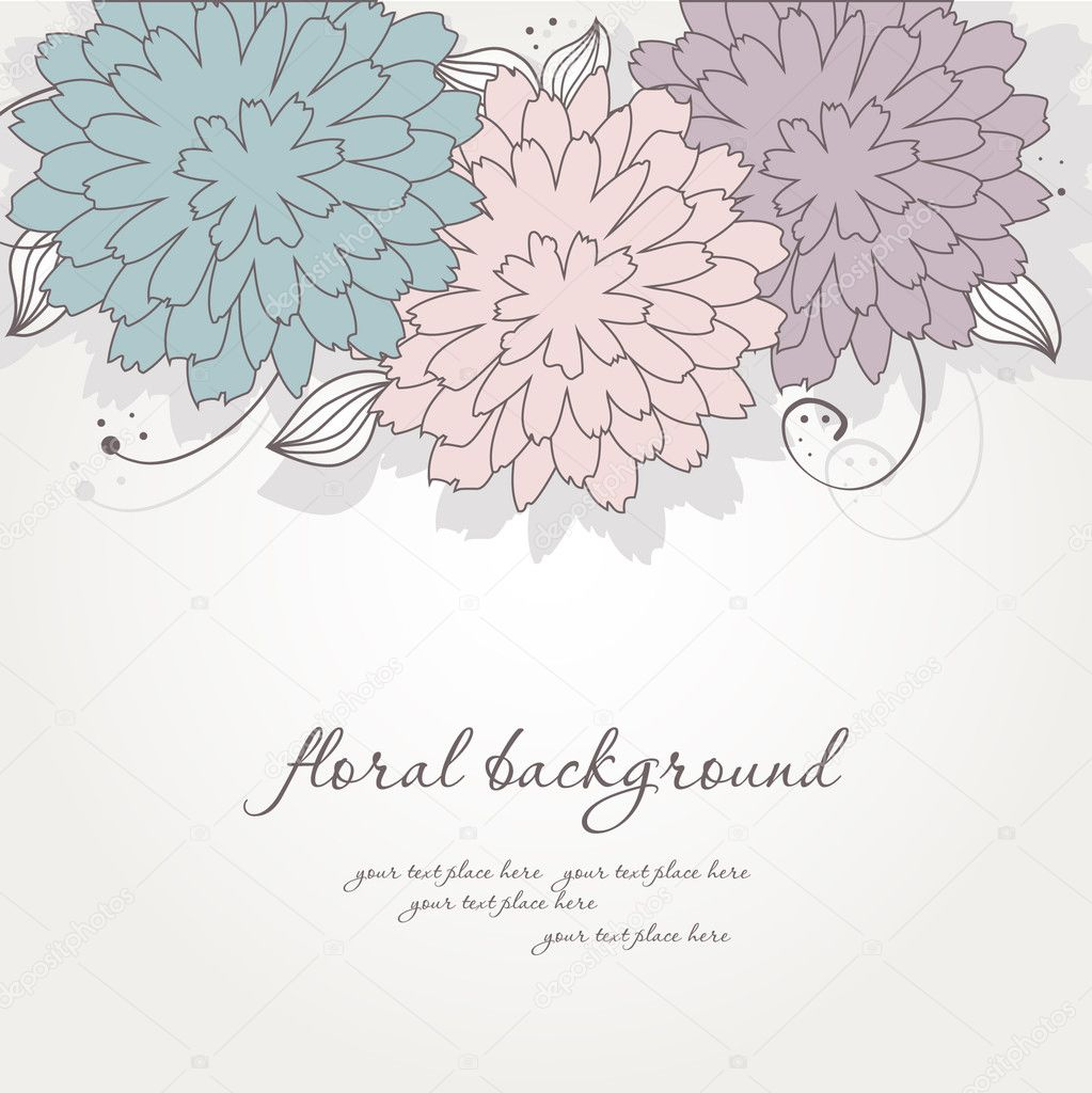Violet floral background   Stock Vector #8633786