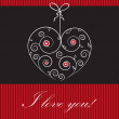 Valentines cards with  hearts and place for your text. — Stock vektor