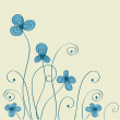 Vintage background with abstract flowers — Stock Vector