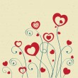 Valentines cards with hearts and place for your text. — Vector de stock