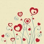 metniniz için kalpleri ve yer ile Sevgililer kartları — Stok Vektör