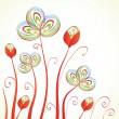 Vintage background with abstract flowers — Stock Vector #8685700