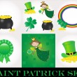 St Patrick day set — Stockvektor