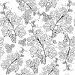 Vintage seamless pattern with grape branch — Stock Vector