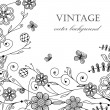 Vintage background with flowers and butterflies — Stock Vector #8685958