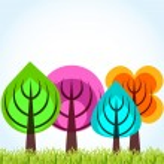 Four season trees concept — Stock Vector