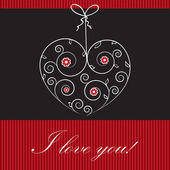 Valentines cards with hearts and place for your text. — Stockvector