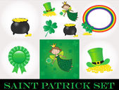 St Patrick day set — Stock Vector