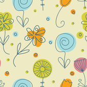 Vintage flowers. Seamless pattern — ストックベクタ