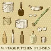 Vintage Restoran menü tasarımı ile el Pan çizilen illüstrasyon soğan bir — Stok Vektör