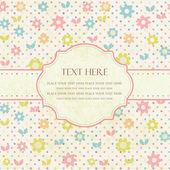 Hand dras vektor illustration med blommor och plats för text. — Stockvektor
