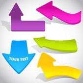 Fondo colorido vector con flechas — Vector de stock