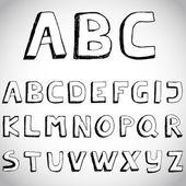 гранж рука нарисованные алфавит. вектор. — Cтоковый вектор