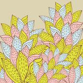 Ročník pozadí abstraktní květy — Stock vektor