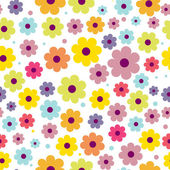 Background with abstract flowers — Stock Vector