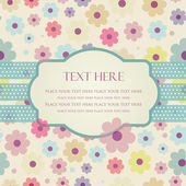 Hand drawn vector illustration with flowers and place for text. — Vettoriale Stock