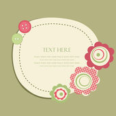 Hand drawn vector illustration with flowers and place for text. — Stock Vector