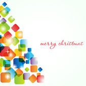 Christmas tree on the background. Holiday card — Stock Vector