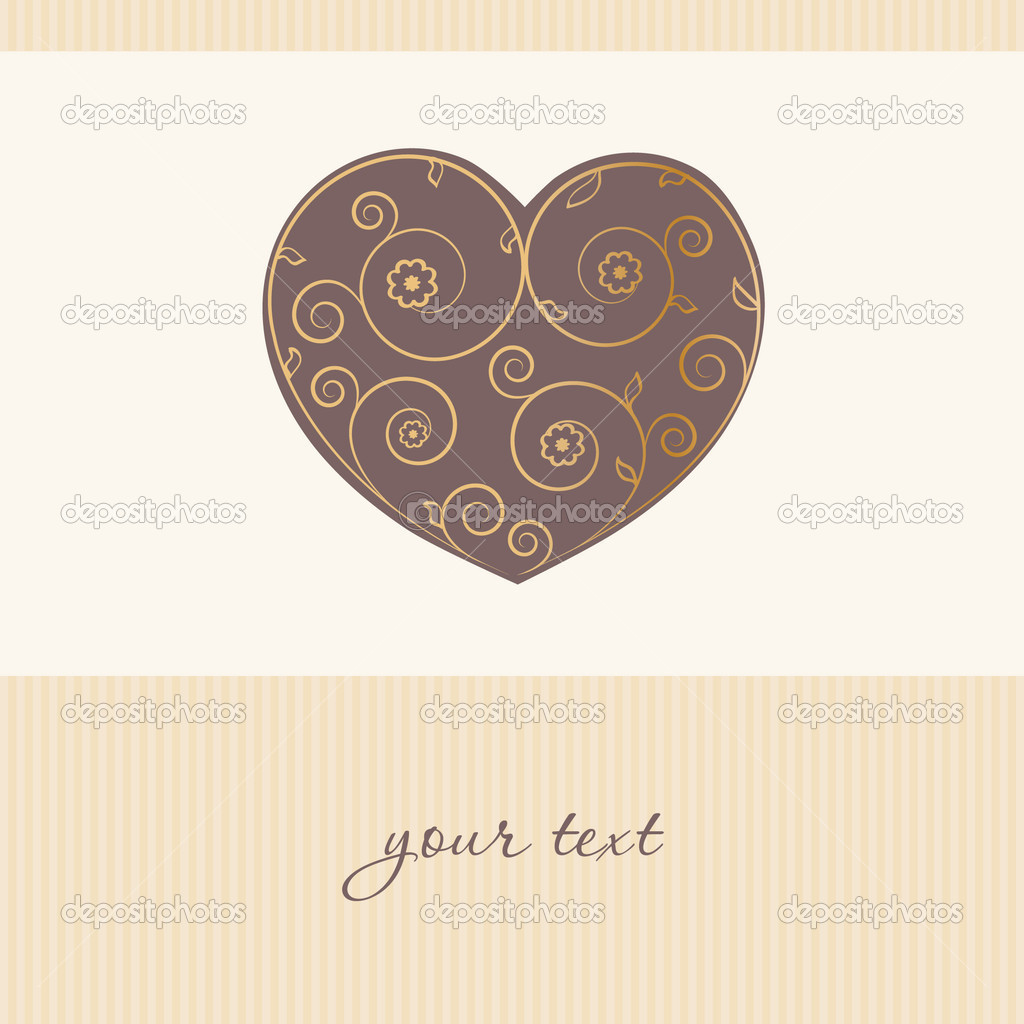 Valentines cards with  hearts and place for your text. — Stock Vector #8685664