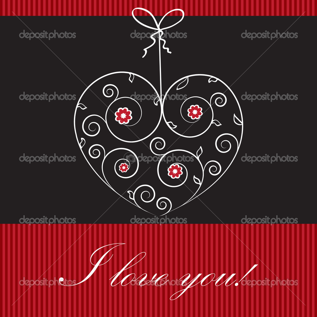Valentines cards with  hearts and place for your text.  Stockvectorbeeld #8685672