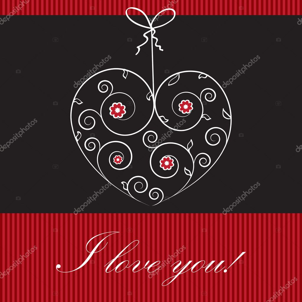 Valentines cards with  hearts and place for your text. — Imagen vectorial #8685672