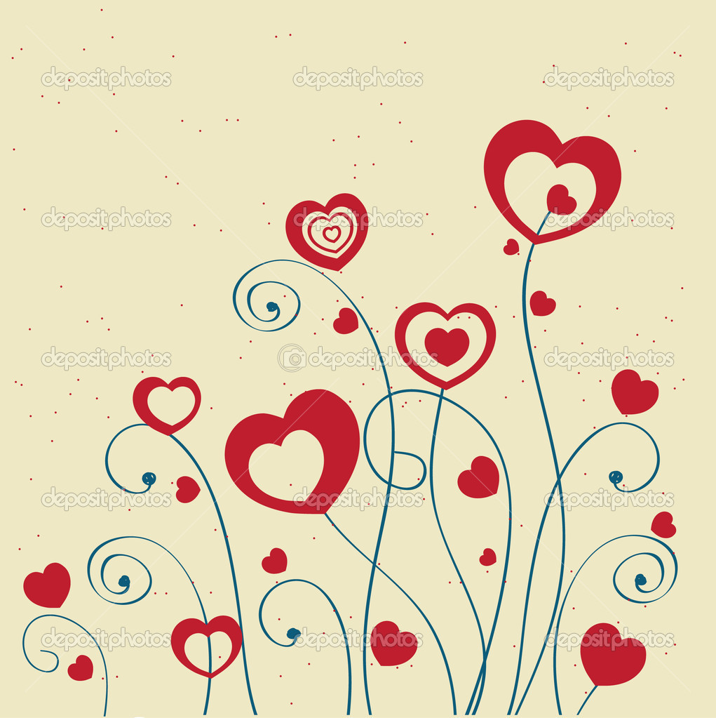 Valentines cards with  hearts and place for your text. — Stock Vector #8685694