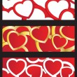 Stock Vector: Set Valentines cards with hearts and place for your text.