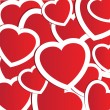 Royalty-Free Stock Векторное изображение: Valentines cards with  hearts and place for your text.