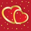 Valentines cards with hearts and place for your text. — Vettoriale Stock